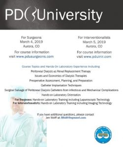 ISPD PD University for Interventionalists - International Society for  Peritoneal Dialysis
