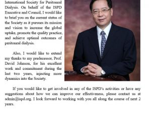 ISPD President's message: Dr Xueqing Yu's first message