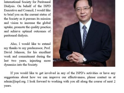 ISPD President's message: 2021 will be a year of opportunities