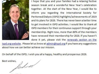 ISPD President's Message – January 2020
